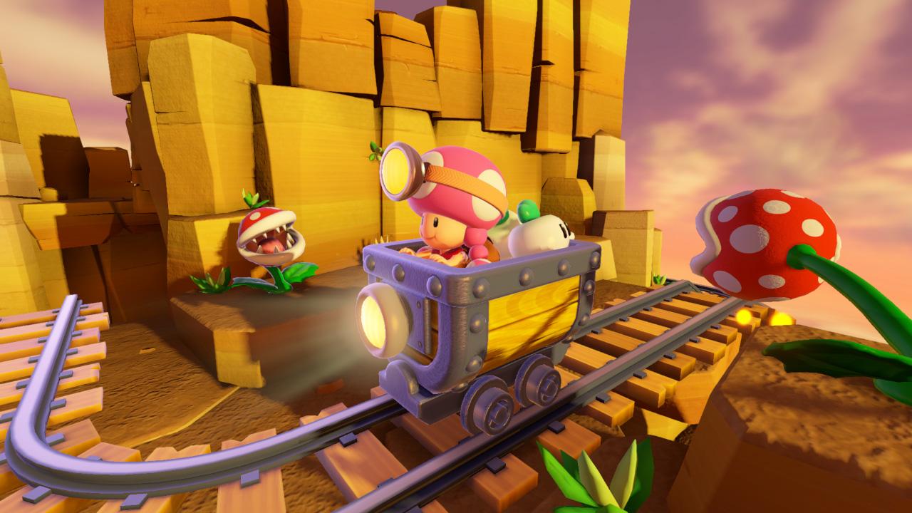 Captain Toad Treasure Tracker Switch Toadette kaivoskärryssä