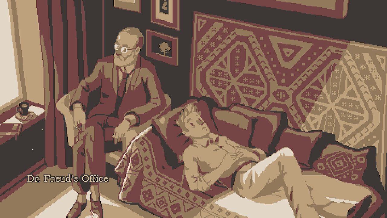 The Lion's Song Dr. Freudin sohvalla