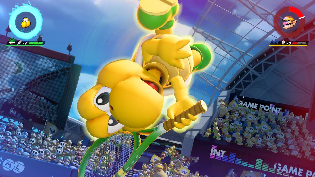 Mario Tennis Aces Koopa Troopa osaa lentää