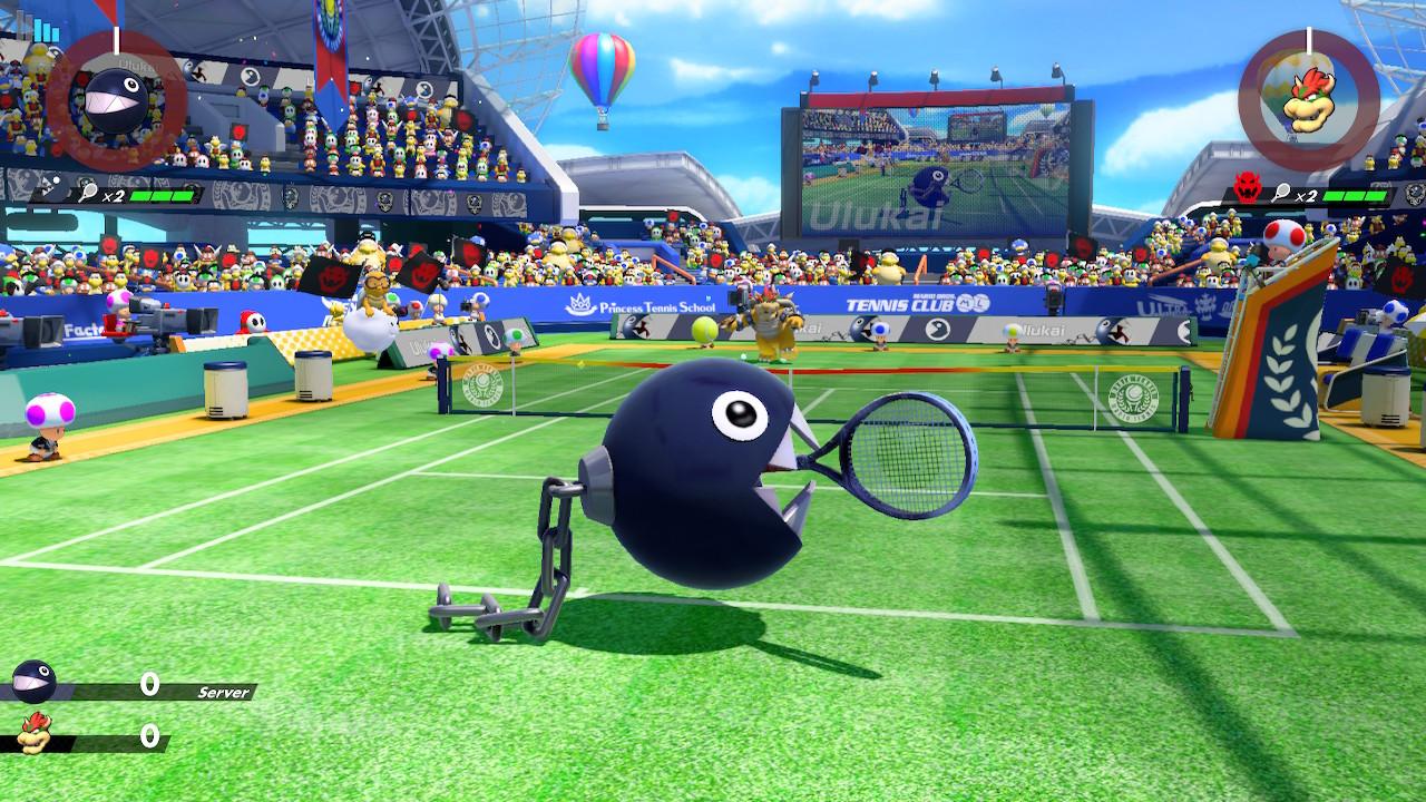 Mario Tennis Aces Chain Chomp nettipelissä