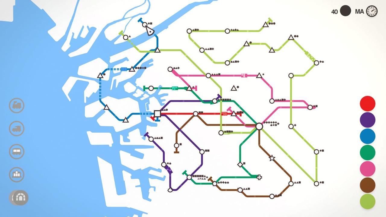 Mini Metro Osakassa on paljon liikennettä