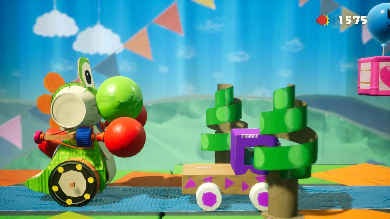 Yoshi's Crafted World tankilla rymistelyä