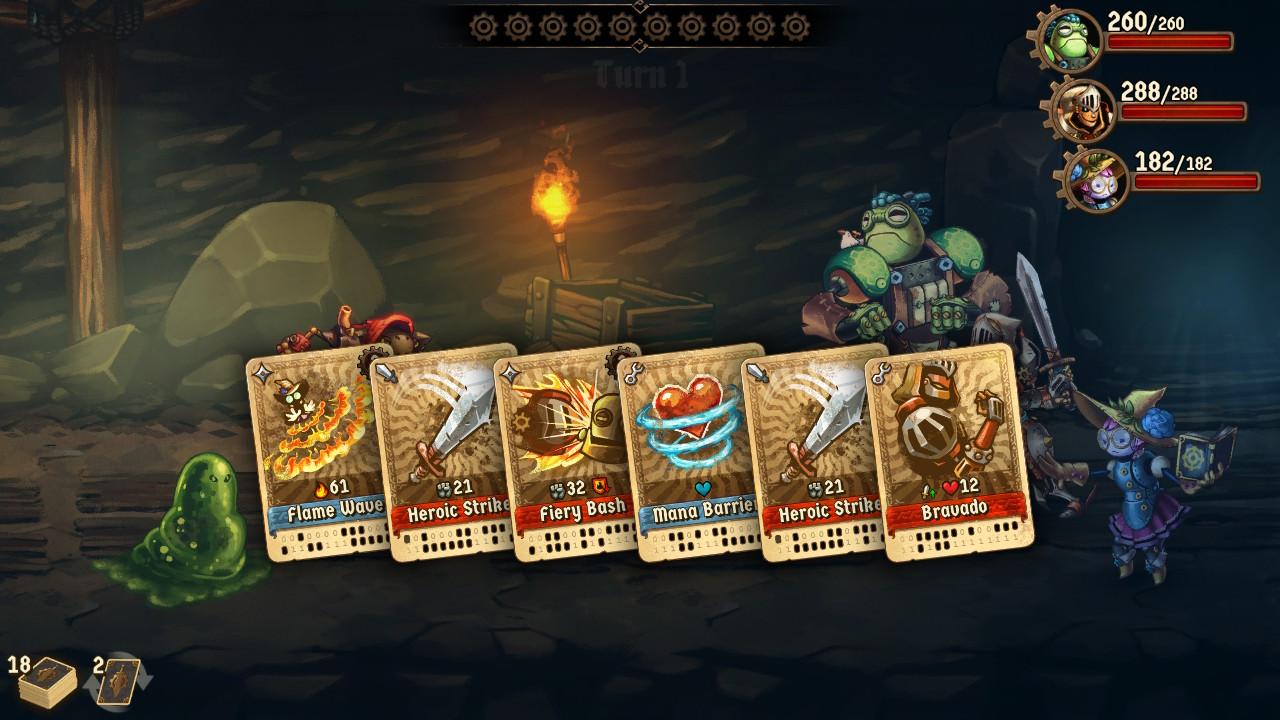 SteamWorld Quest kortteja on mistä valita