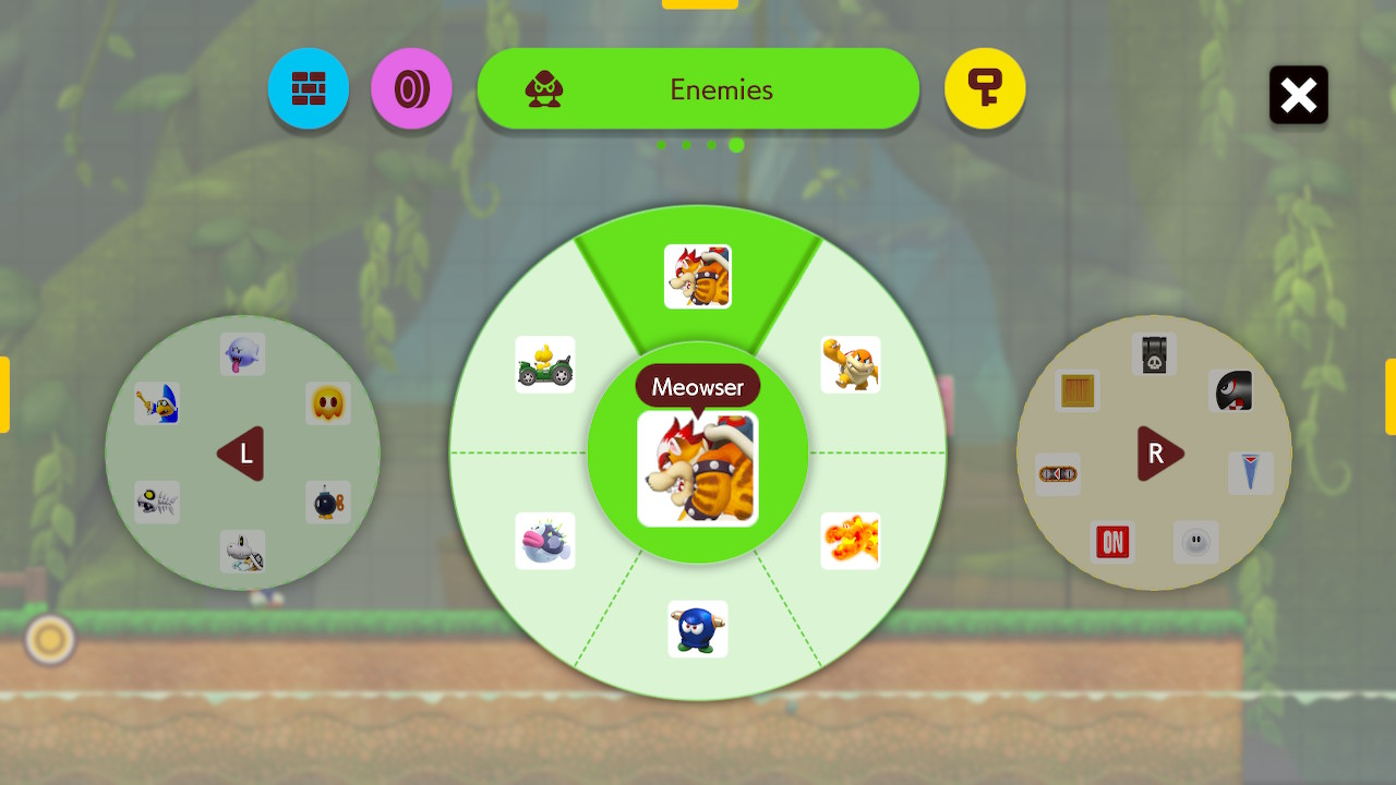 Super Mario Maker 2 vihollisvalikoima