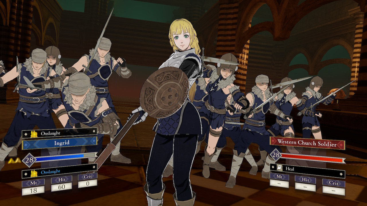 Fire Emblem: Three Houses Ingridin posse lähikuvassa