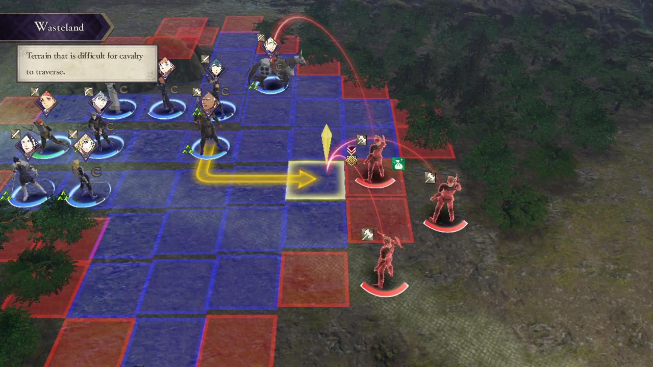Fire Emblem: Three Houses tässä suunnitellaan hyökkäystä