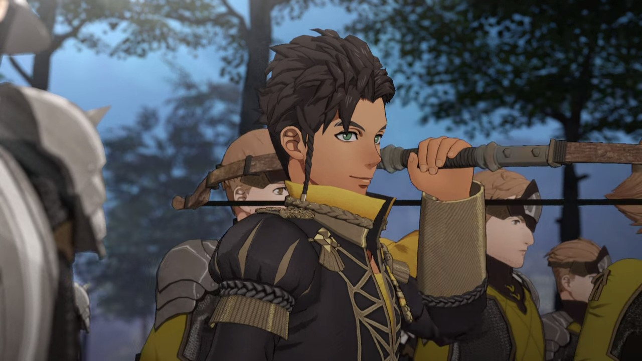 Fire Emblem: Three Houses Claude lähikuvissa