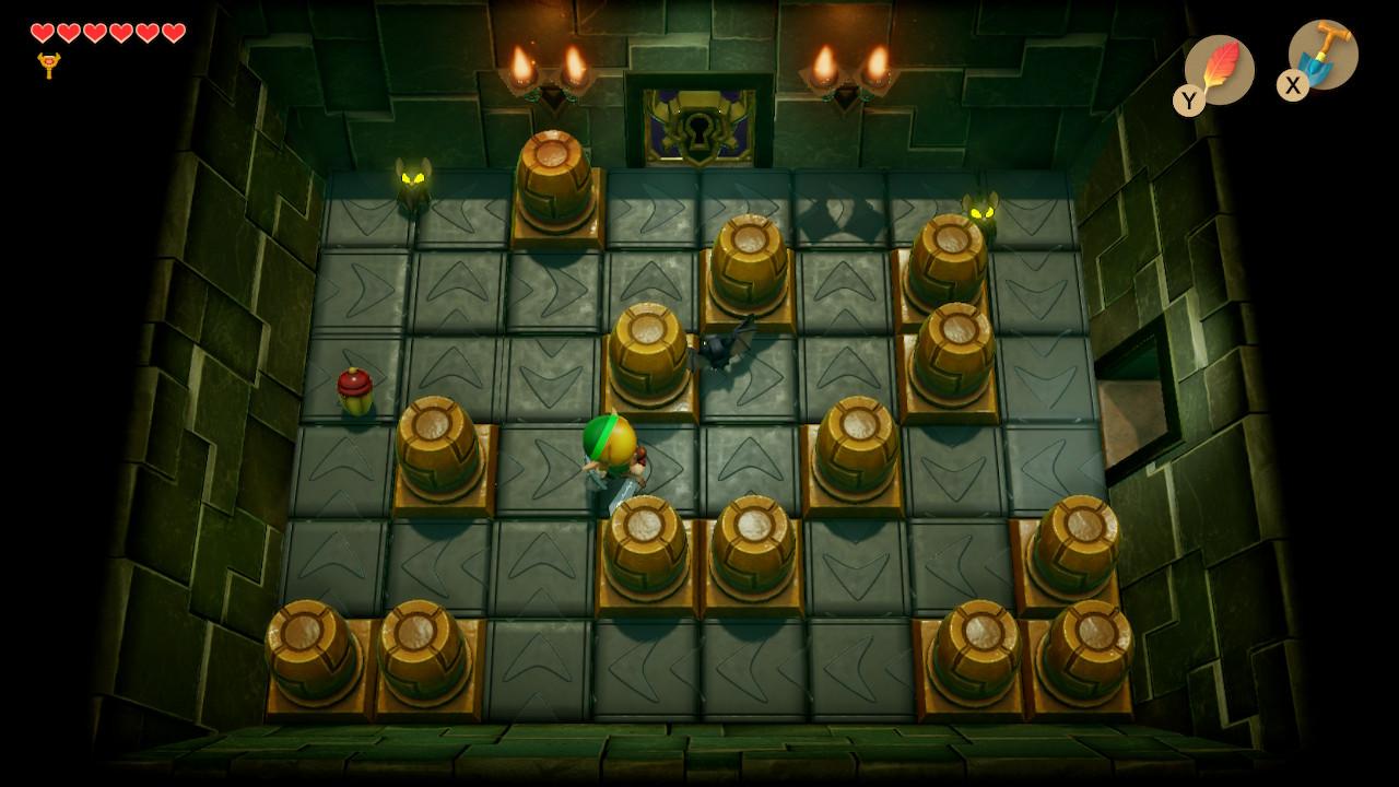 The Legend of Zelda: Link's Awakening Switch luolastossa