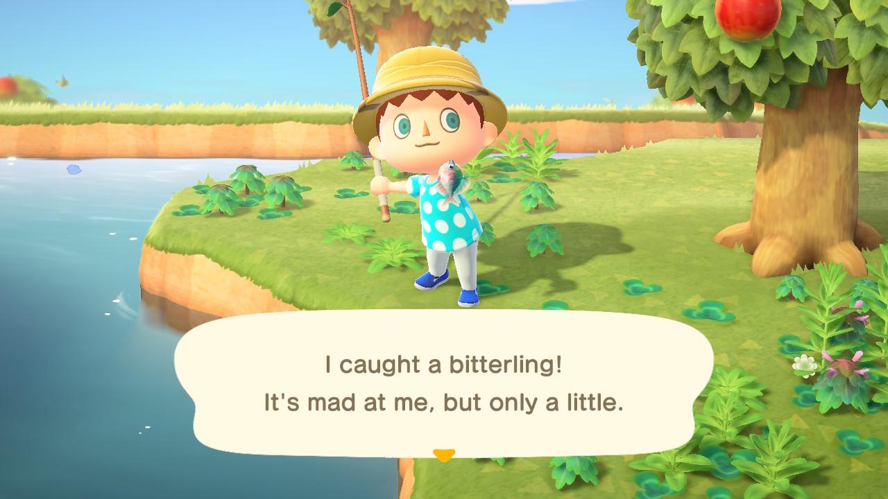 Animal Crossing: New Horizons ensimmäinen kalasaalis