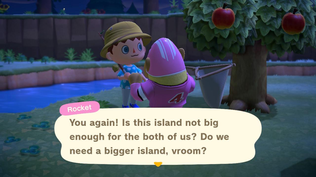 Animal Crossing: New Horizons vitsikäs asukas