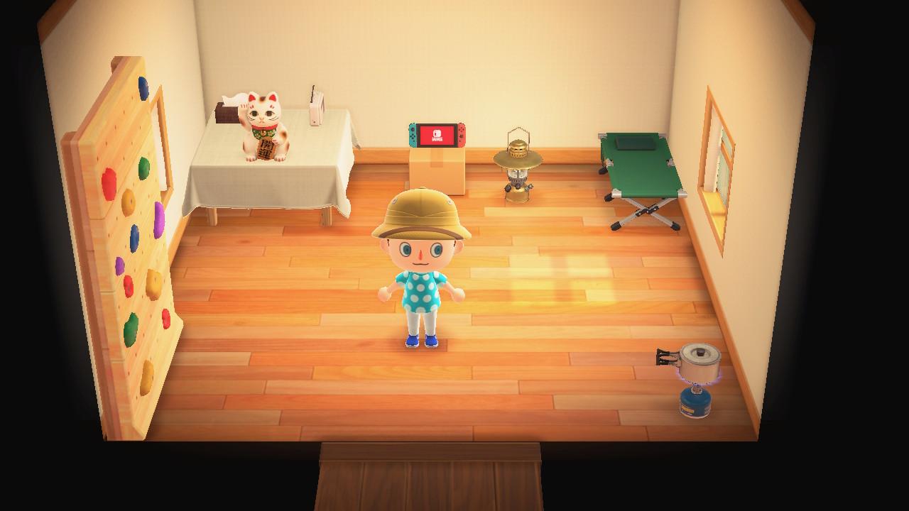 Animal Crossing: New Horizons talo ja huonekalut