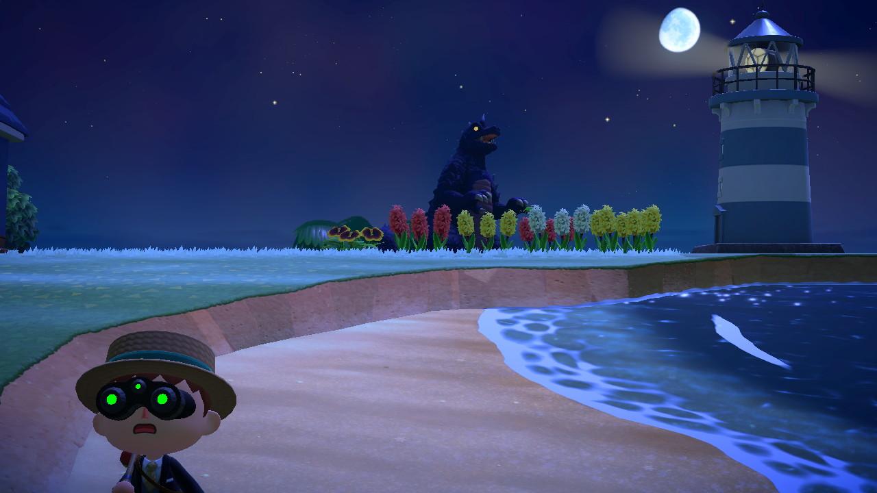 Animal Crossing: New Horizons Midgarin oma Godzilla