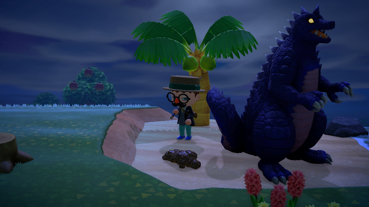 Animal Crossing: New Horizons Midgarin oma Godzilla jätöksineen
