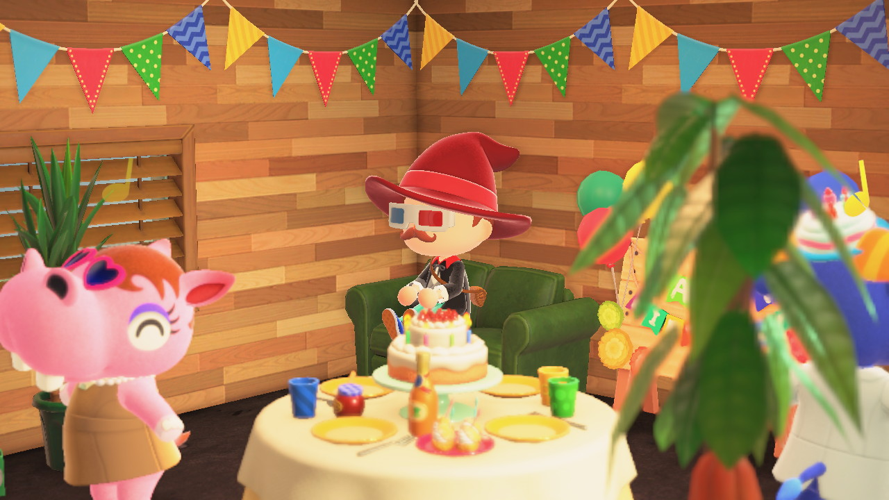 Animal Crossing: New Horizons synttärijuhlintaa