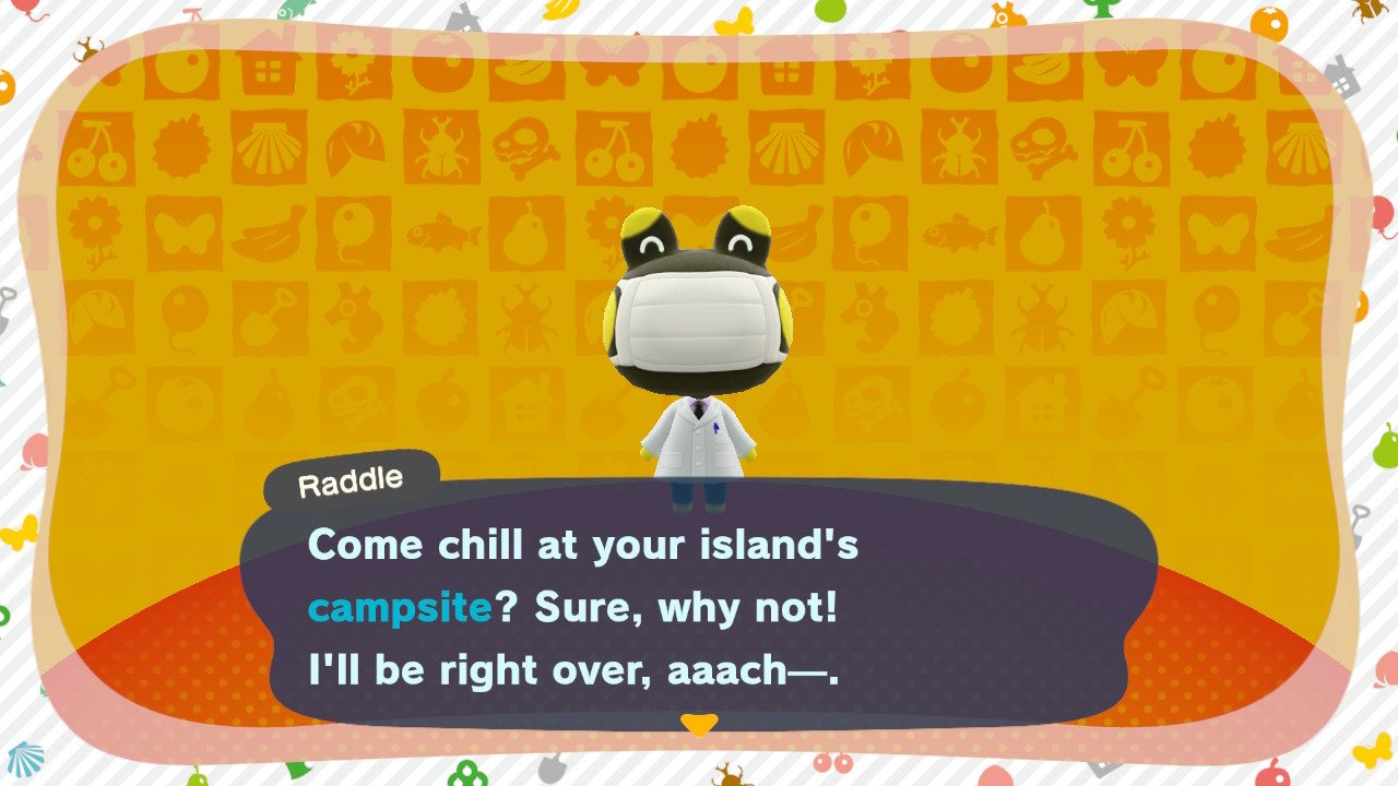 Animal Crossing: New Horizons Raddle saapuu visiitille