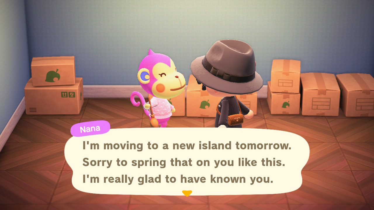 Animal Crossing: New Horizons sinne meni