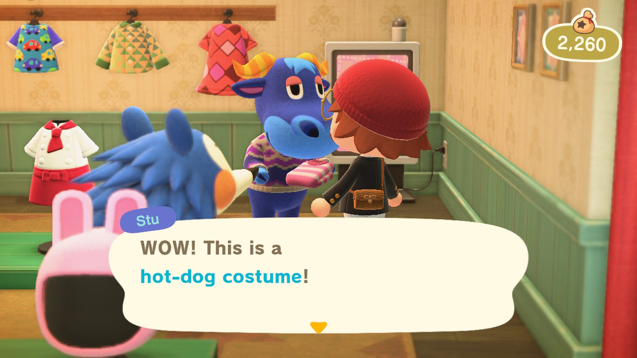 Animal Crossing: New Horizons hodarivaatetus annettu