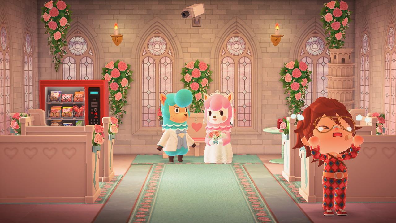 Animal Crossing: New Horizons hääkuva Harveyn saarella