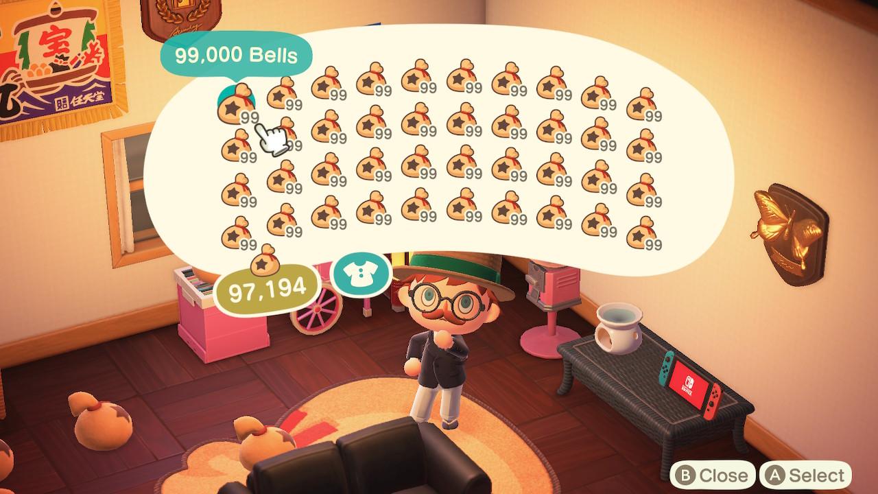 Animal Crossing: New Horizons rahaa niin paljon ettei taivu istumaan