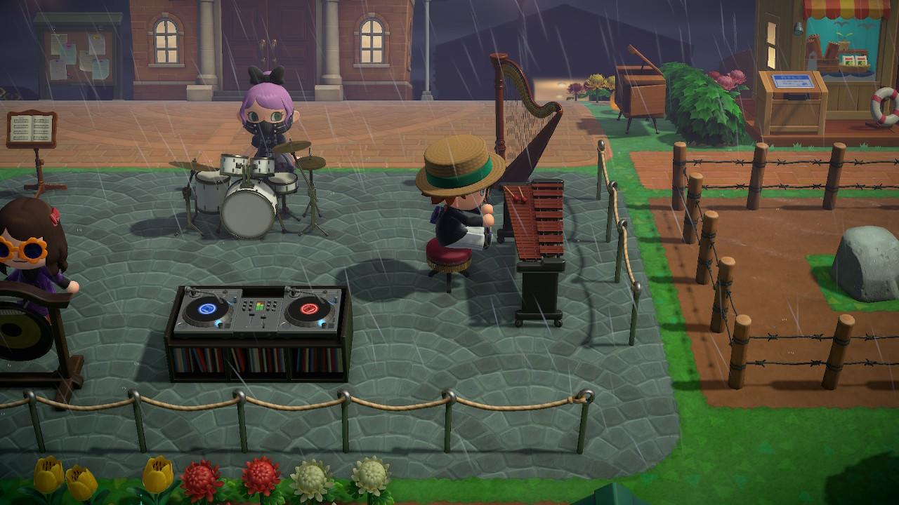 Animal Crossing: New Horizons soittoa ulkoilmassa