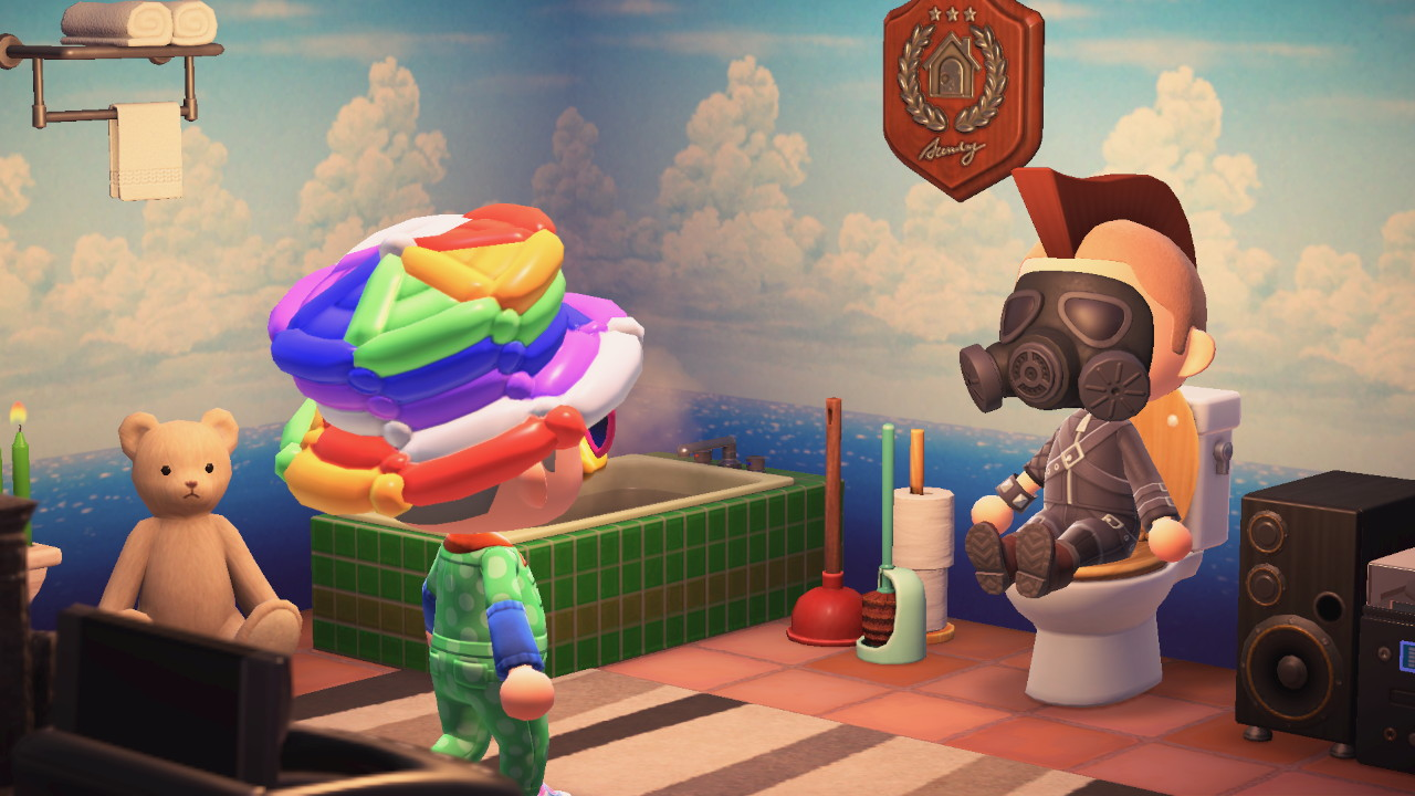 Animal Crossing: New Horizons vessakäynti yleisöllä