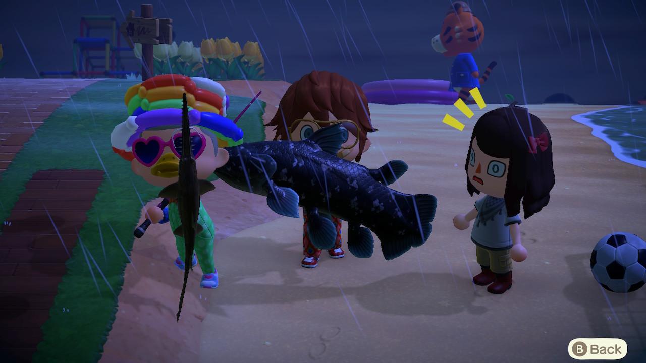 Animal Crossing: New Horizons kaloja Midgar-saarella