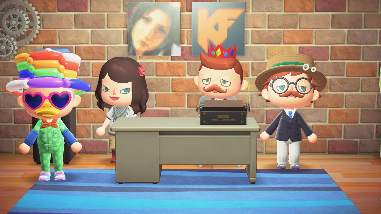 Animal Crossing: New Horizons porukkaa KonsoliFINin etätoimistolla