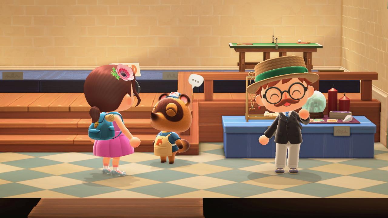 Animal Crossing: New Horizons vieraita kaupassa