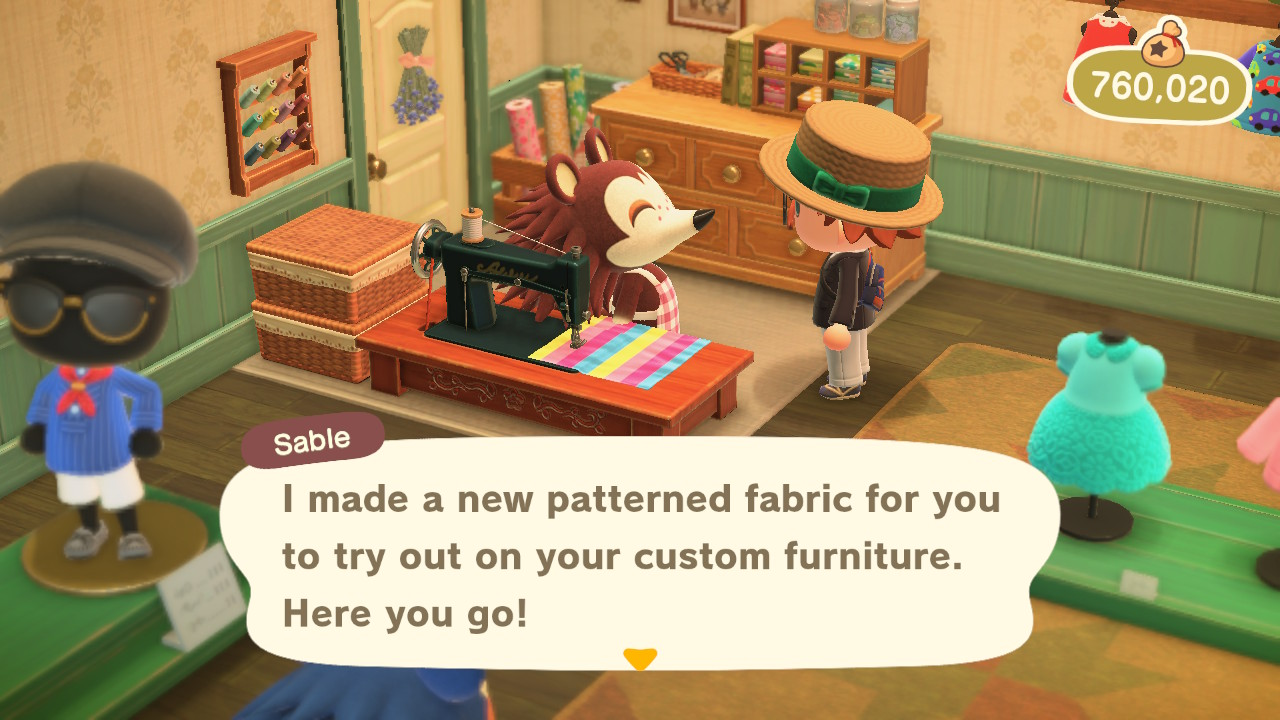 Animal Crossing: New Horizons Sable lahjoo