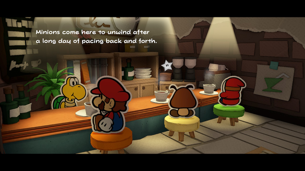 Paper Mario: The Origami King konnakahvilassa