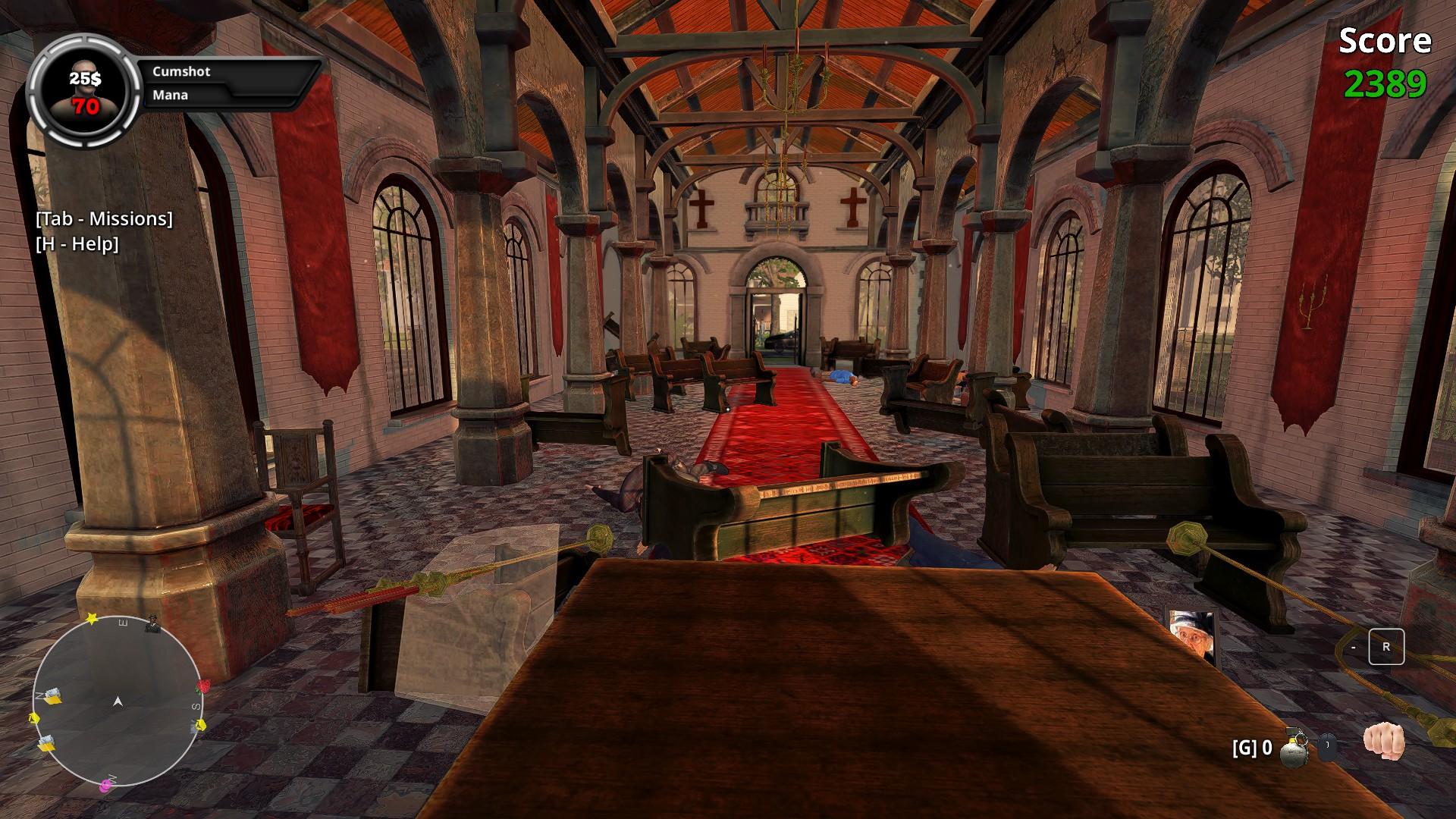 Wanking Simulator käynti kirkossa
