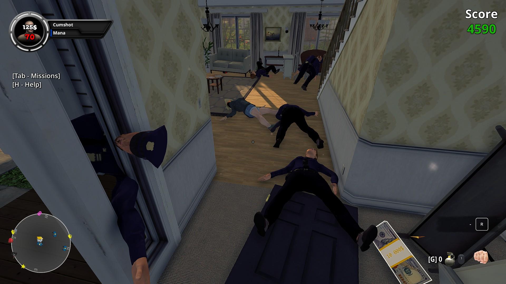 Wanking Simulator talo täynnä makoilijoita