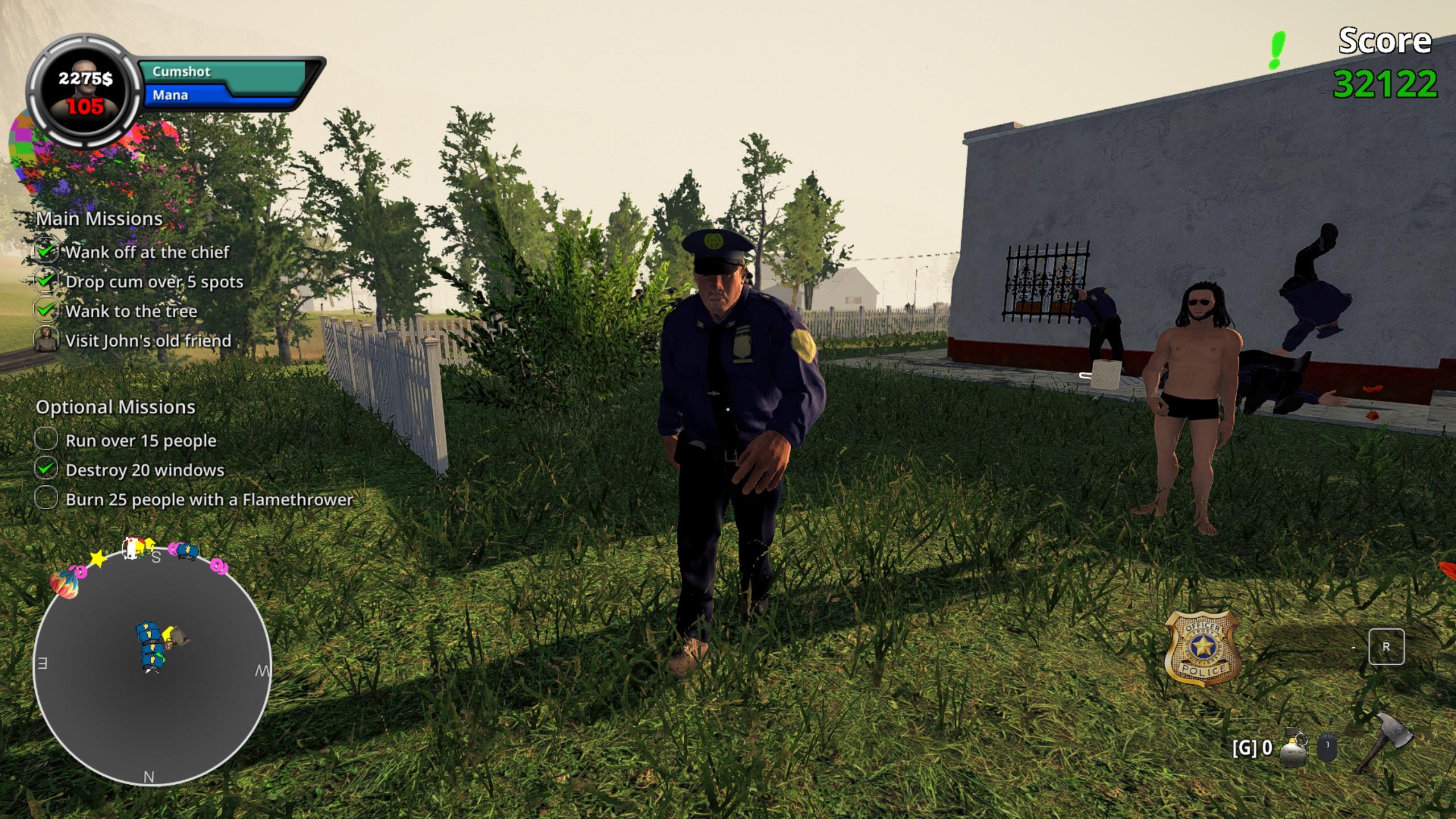 Wanking Simulator poliisi ja herra Dick