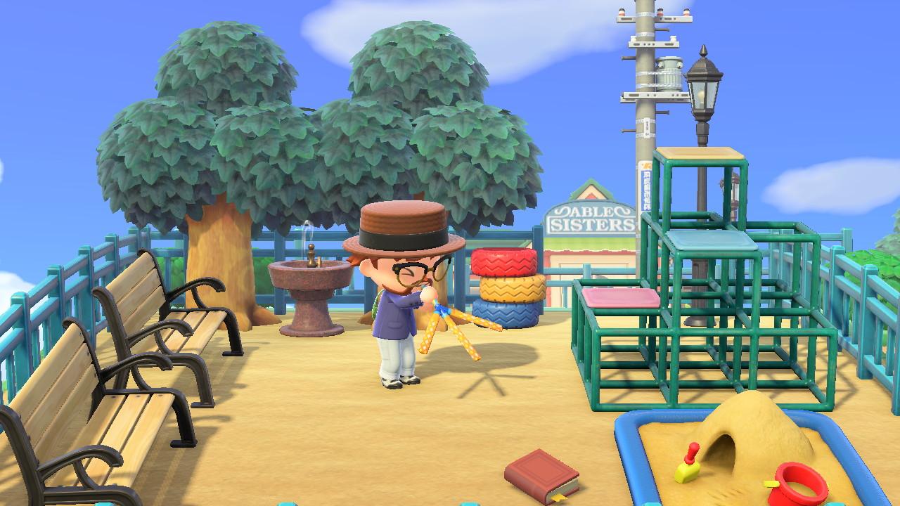 Animal Crossing: New Horizons Biden HQ -saarella leikkipaikka