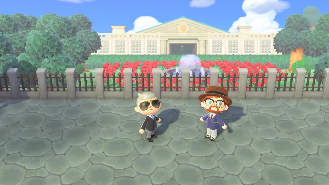 Animal Crossing: New Horizons Biden HQ ja valkoinen talo ja Joe Biden