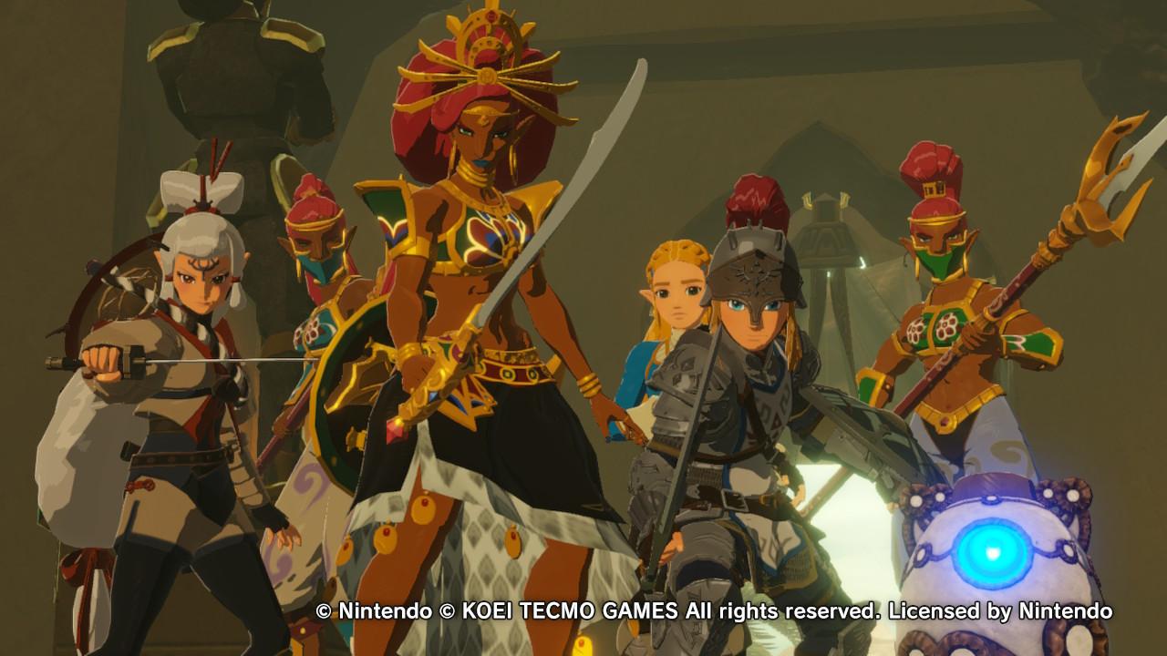 Hyrule Warriors: Age of Calamity Urbosa, Link, Zelda ja kumppanit