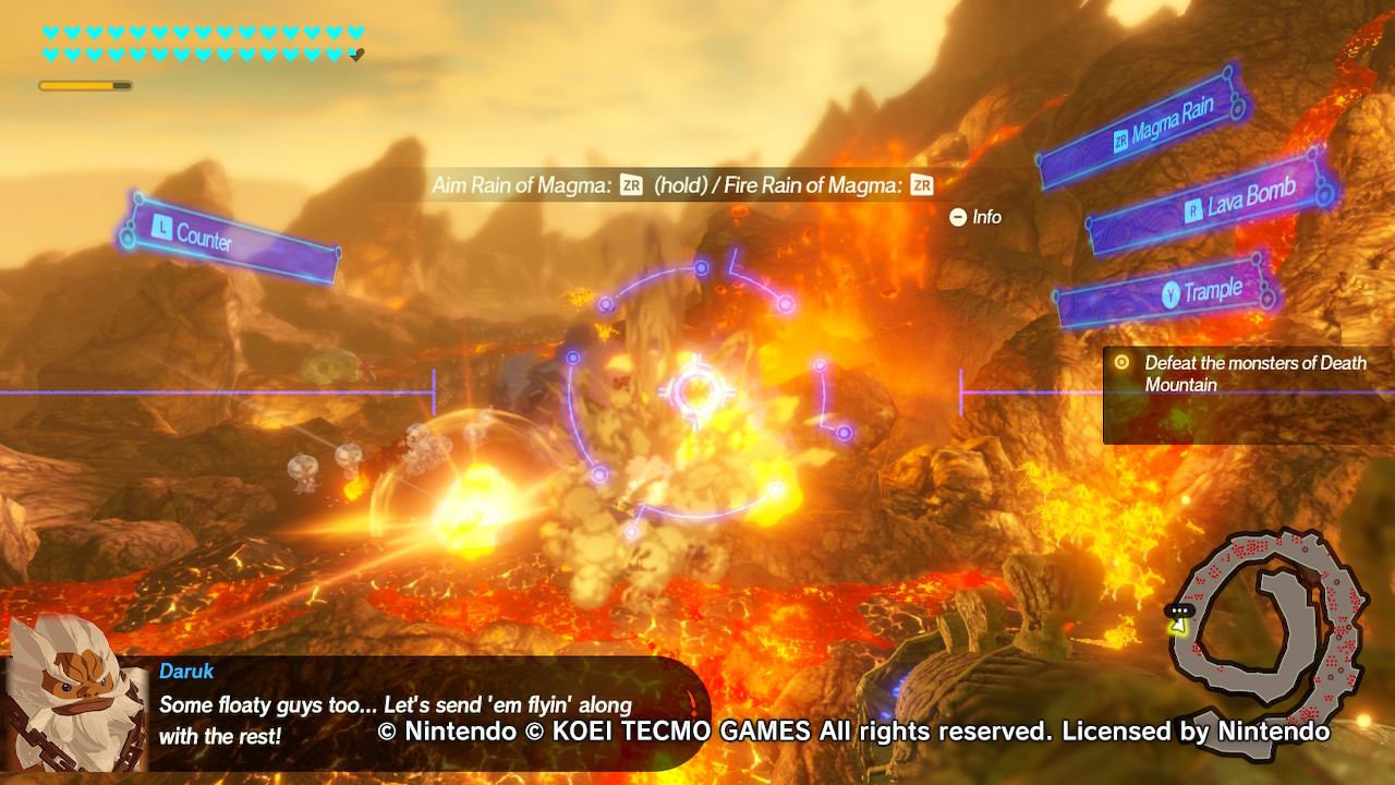 Hyrule Warriors: Age of Calamity Divine Beast rymistelyä