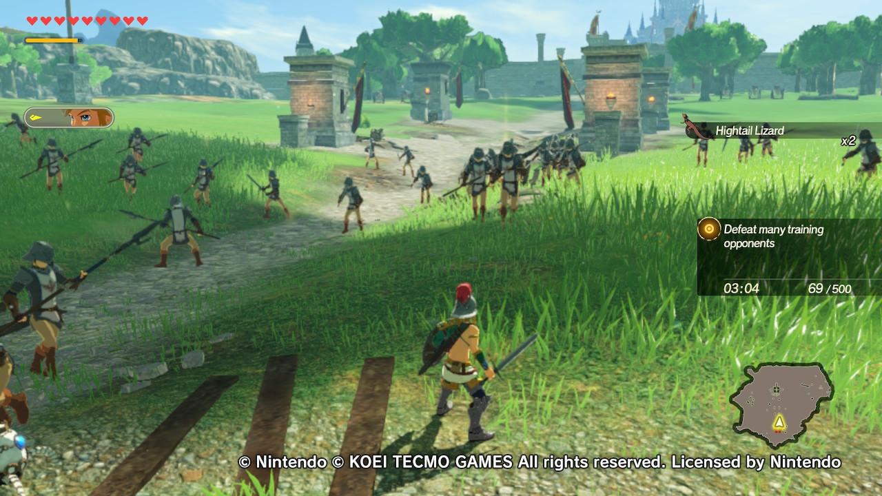 Hyrule Warriors: Age of Calamity Link nurmella paidatta