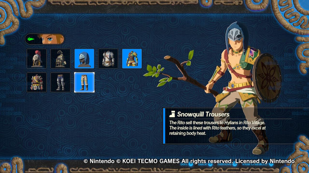 Hyrule Warriors: Age of Calamity Link oksan kanssa