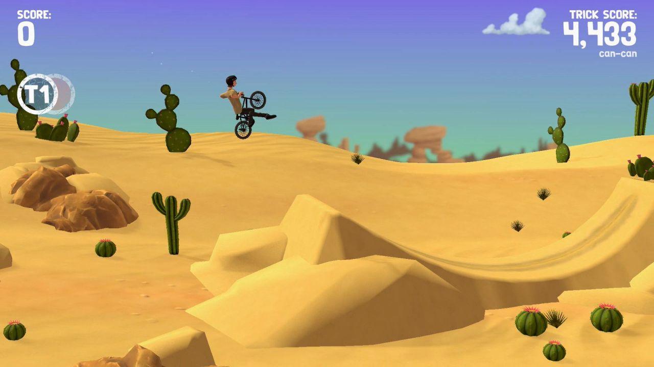 Pumped BMX Pro ilmalento aavikolla