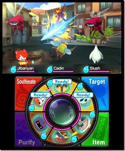 Yo-kai Watch taistelu