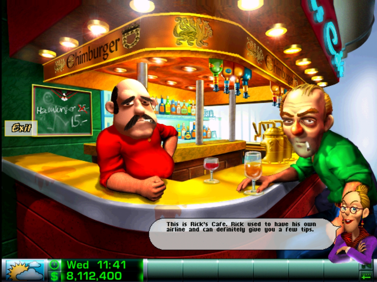 Airline Tycoon Retromuistelo Rick's bar