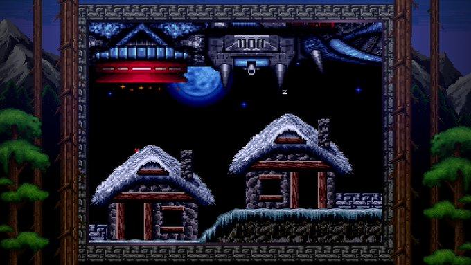 Blizzard Arcade Collection Lost Vikings UFO taivaalla