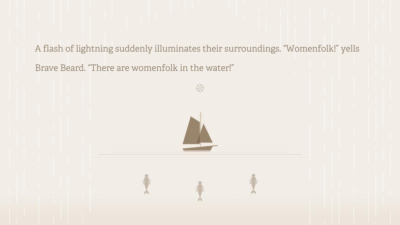 Burly Men at Sea naisia vedessä