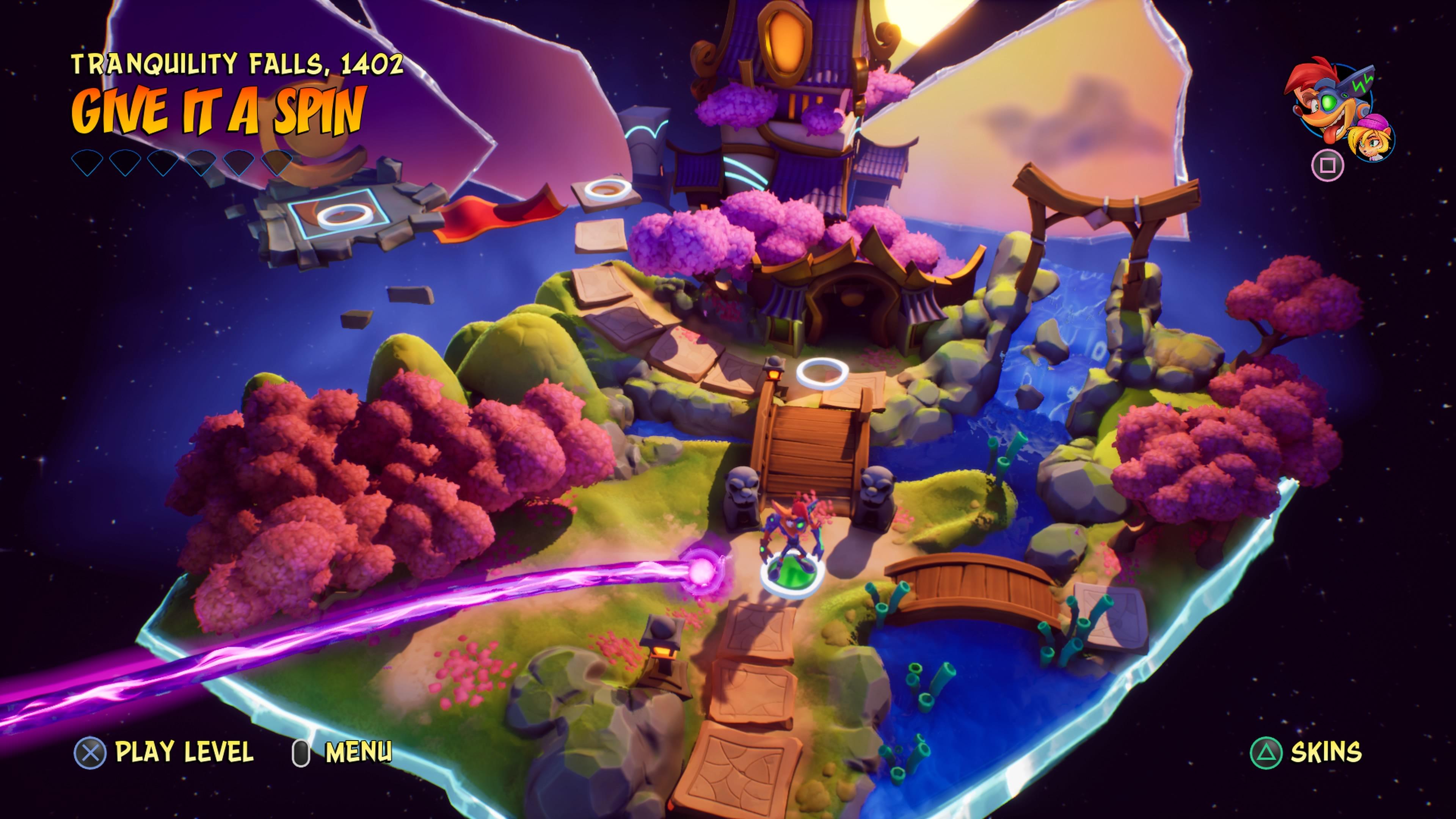 Crash Bandicoot 4: It's About Time karttanäkymä