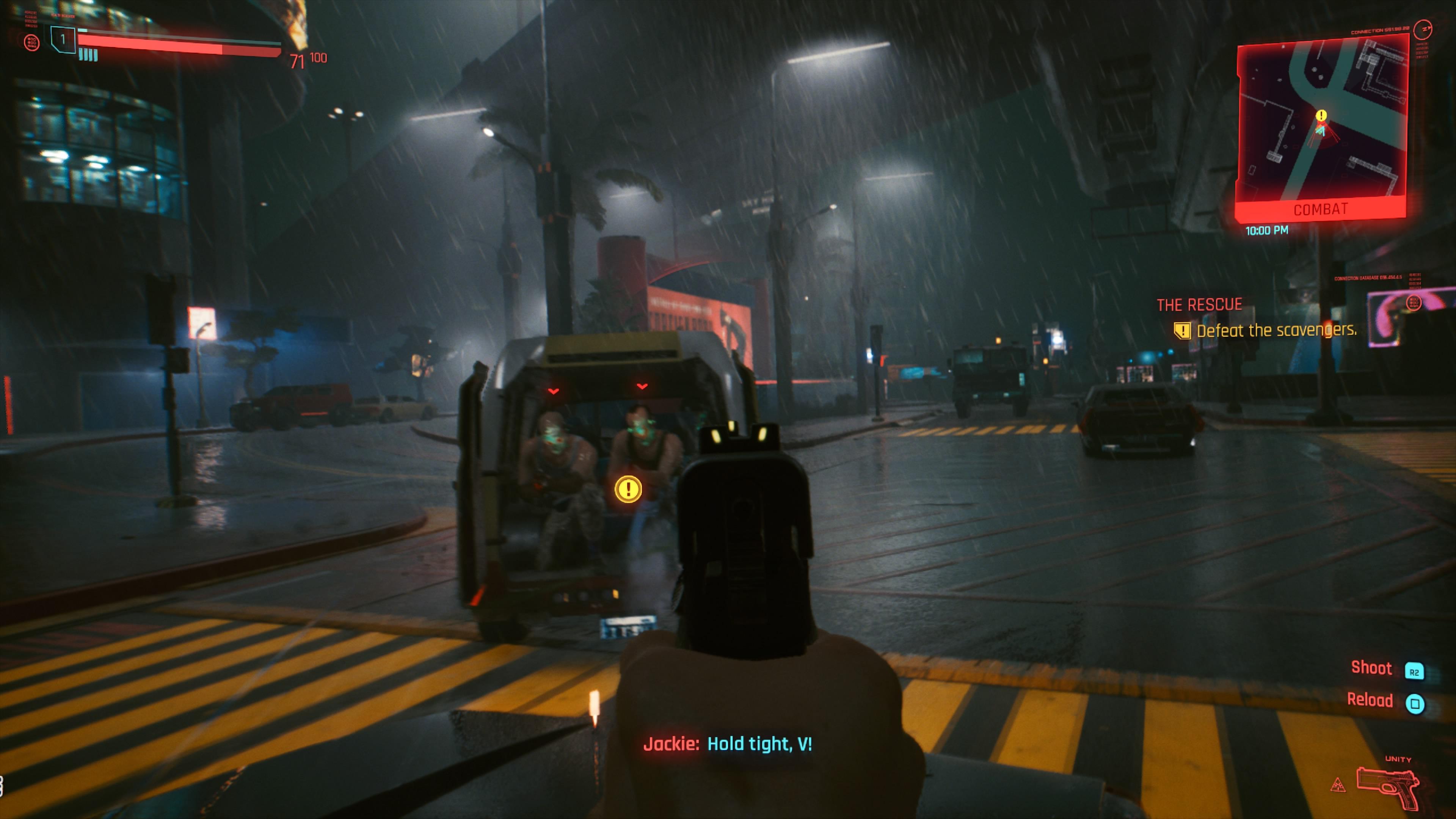 Cyberpunk 2077 sitten ammuskellaan