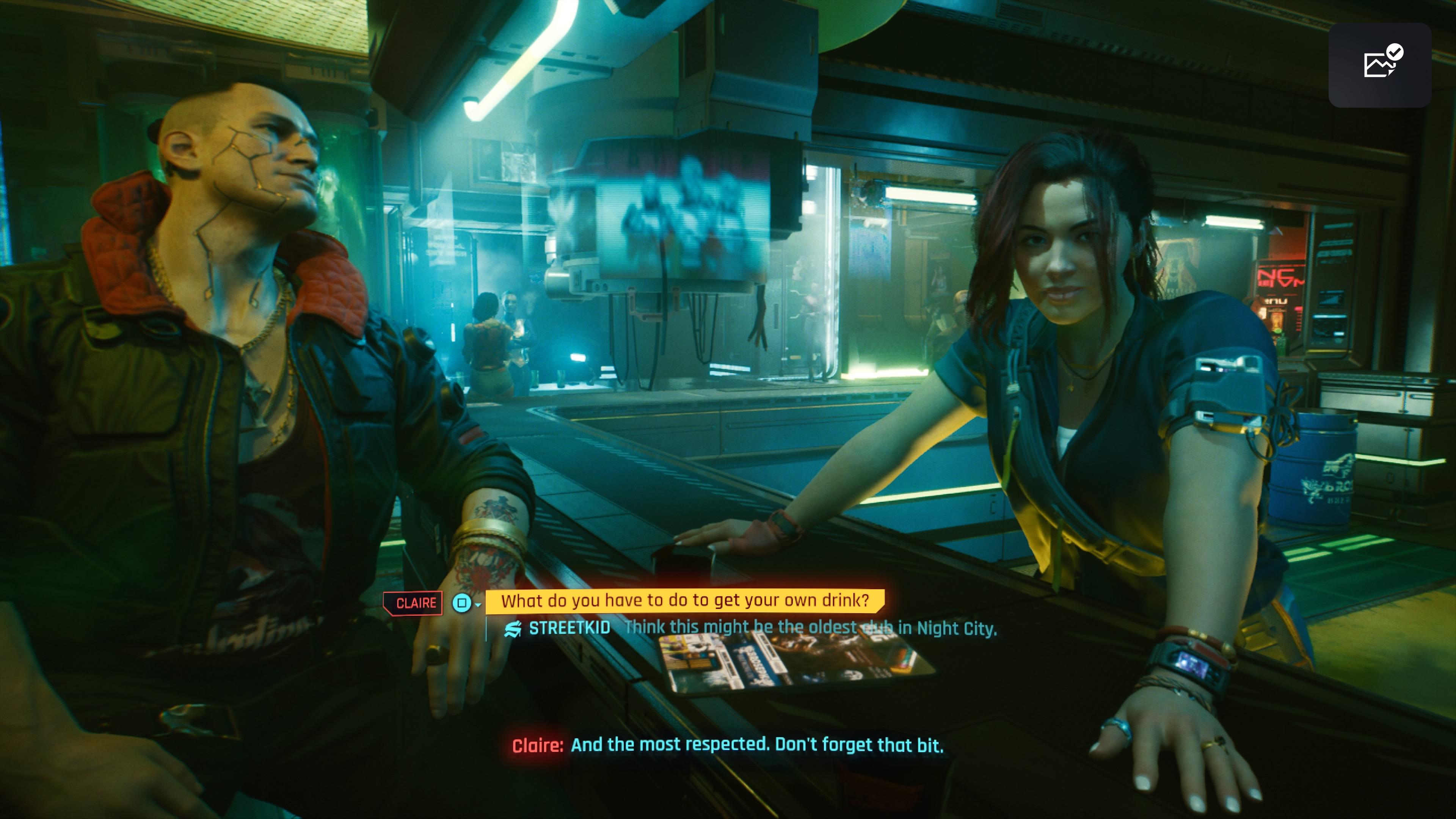 Cyberpunk 2077 dialogia baarissa