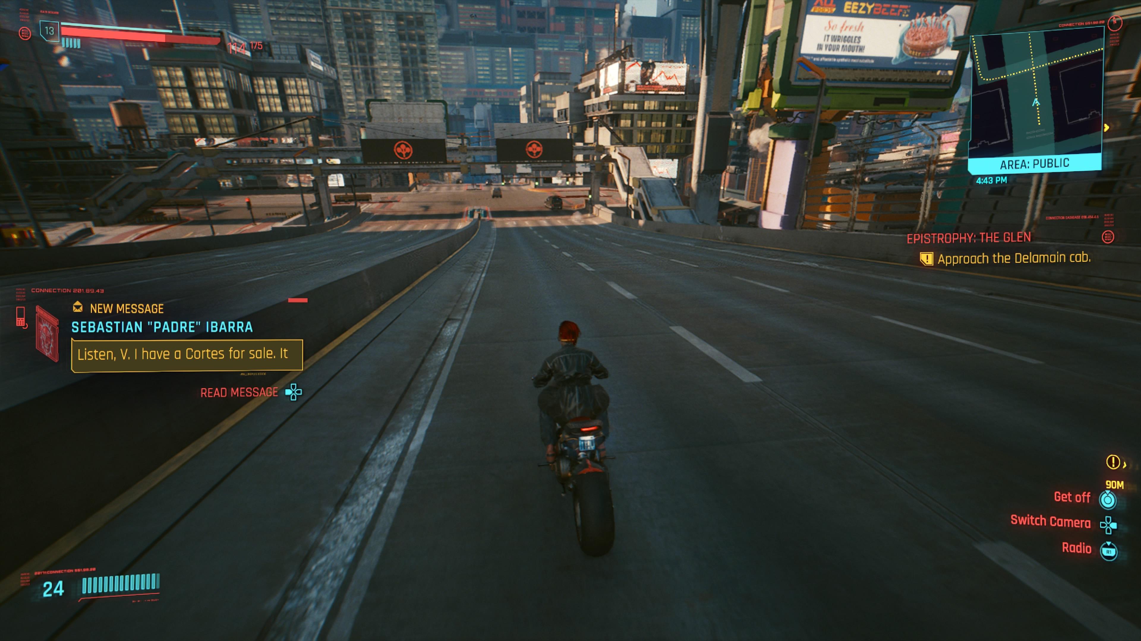 Cyberpunk 2077 Night Cityn kadut ovat aikamoisen tyhjiä