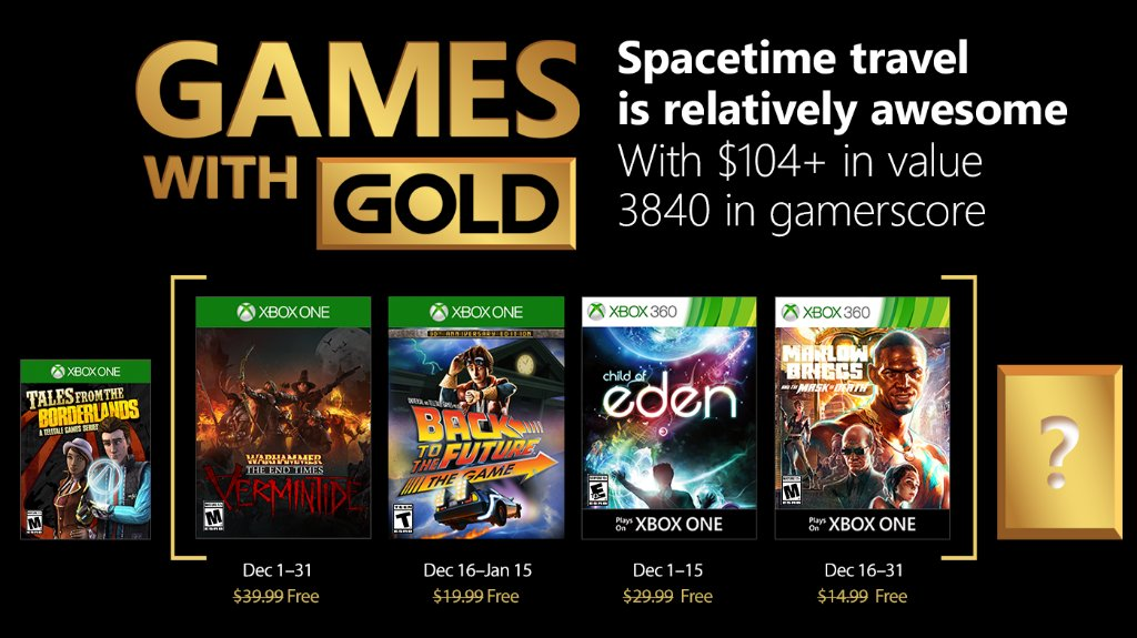 Games with Gold: joulukuu 2017
