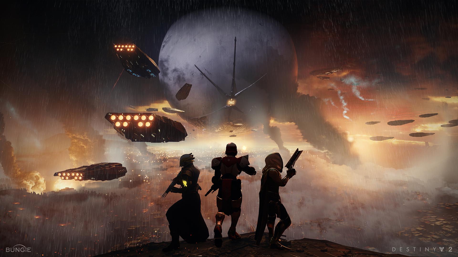 Destiny 2 Taistelijat avaruusmaisema